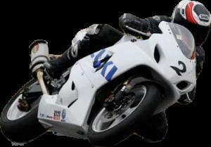 Didier Guédon sur moto zusuki Moto Garage Chemillé