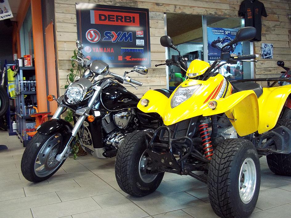 vente de quads neufs et d'occasions toutes marques à moto Garage Chemillé